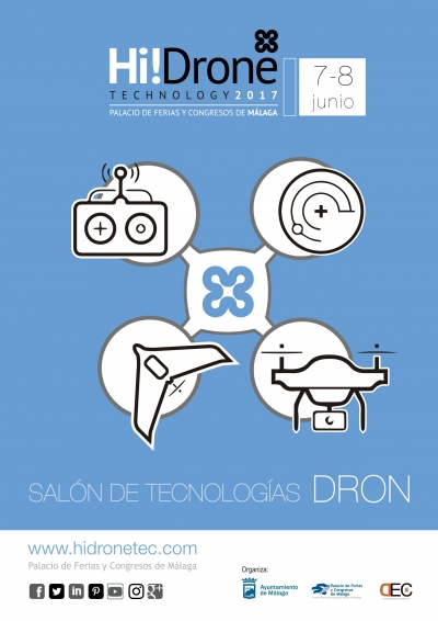 Cartel del I Hi!Drone Technology.